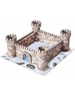 Конструктор из керамических мини-кирпичиков Замок Орлиное гнездо, 870 деталей