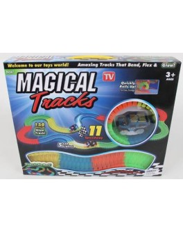 Конструктор Гоночная трасса Magic Tracks 150 деталей