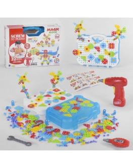 Конструктор мозаїка Magic Block з шуруповертом 300 деталей (661-323)