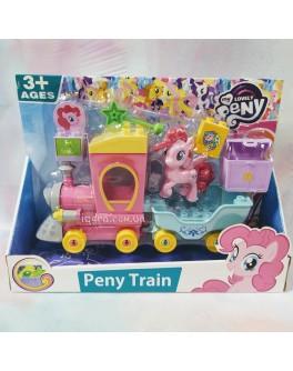Конструктор для дівчаток Потяг Поні 30 деталей (5321)