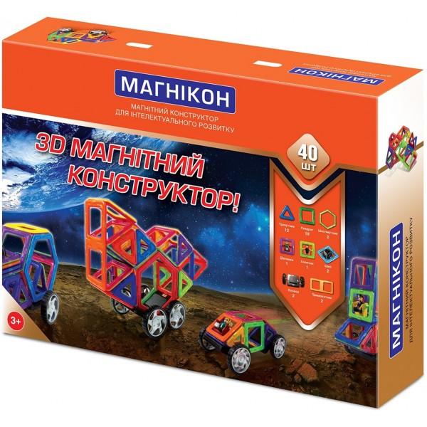 магнитный конструктор на 40 деталей Магникон