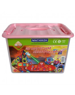 3D Магнитный конструктор Магникон на 198 деталей