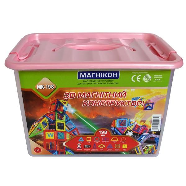 магнитный конструктор магникон на 198 деталей