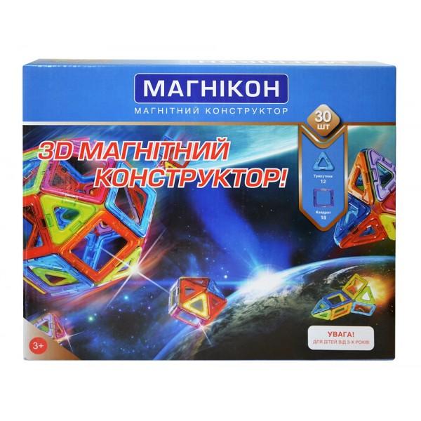 магникон конструктор магнитный для детей на 30 деталей