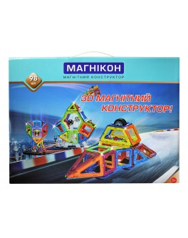 3D Магнитный конструктор Магникон на 98 деталей - MD МK-98