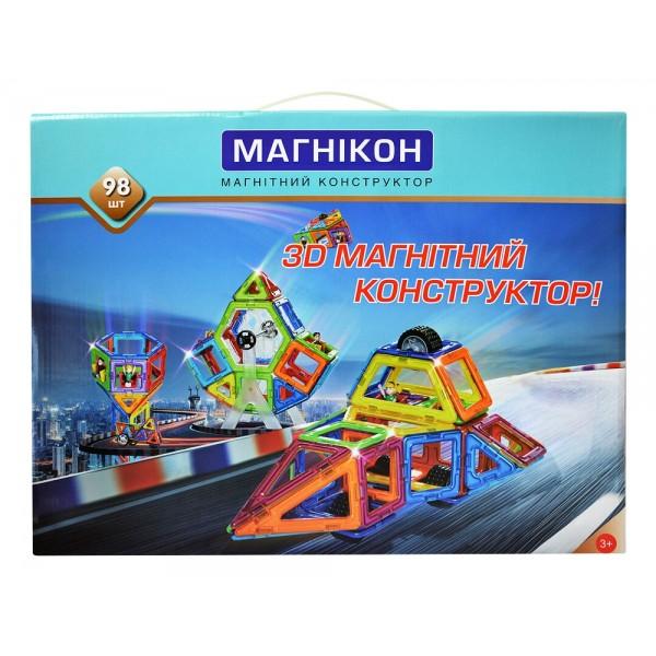 конструктор для детей магнитный магникон на 98 магнитов