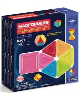 Магнитный конструктор Magformers 3D окошки, 14 элементов