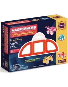 Магнитный конструктор Magformers Мой первый красный автомобиль, 14 элементов - ITT 702006