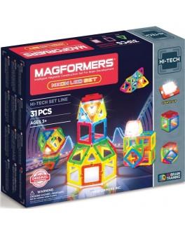 Магнитный конструктор Magformers Неоновый с ЛЕД подсветкой, 31 элемент - ITT 709007