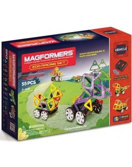 Магнитный конструктор Magformers Зоо гонки 55 элементов