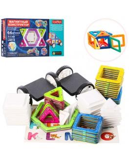 Магнитный 3D конструктор Leqi-toys LQ614, 64 детали
