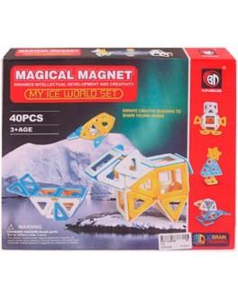 Геометричні фігури на магнітах Magical Magnet Подорож в снігові краю 40 елементів - mpl 712