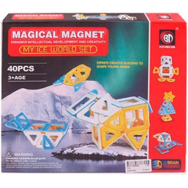 магнитный конструктор Magical Magnet Путешествие в снежные края 40 элементов