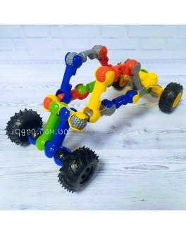 Конструктор шарнірний Stick building block Snowmobile 28 деталей та 4 колеса (SY9913)