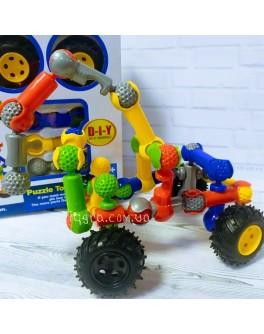 Конструктор шарнірний Stick building block Truck 30 деталей та 4 колеса (SY9912)