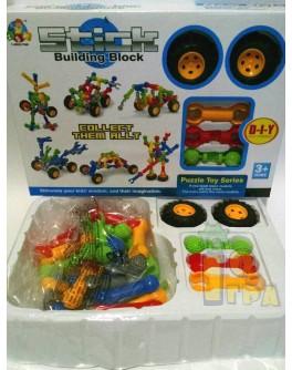 Конструктор Stick building block Транспорт 30 деталей и колеса (SY9910-11-12)