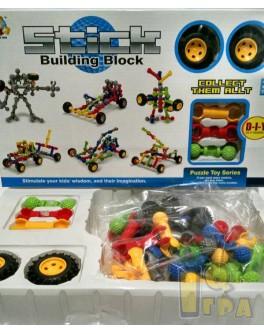 Конструктор Stick building block Транспорт 41 деталь и колеса (SY9916-17-18-19)