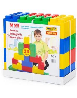 Конструктор будівельний XXL, 24 елемента, 45х23х42 см ТМ Полесье (37503)