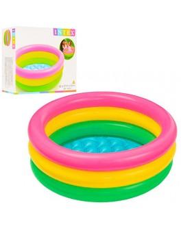 Дитячий надувний басейн Intex Веселка, 34 літра 61х22 см (57107)