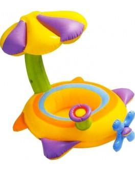 Детский надувной плотик Intex Самолетик с навесом (56580)