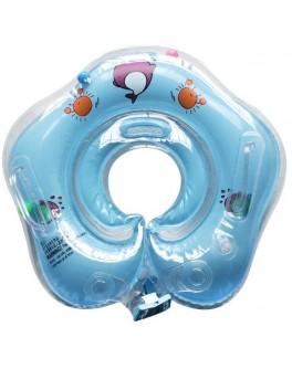Круг надувний для купання немовлят Huada Toys блакитний (С 29114)