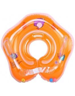 Круг надувний для купання немовлят Huada Toys помаранчевий (С 29114)