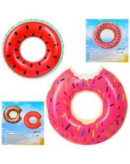 Надувной круг для плаванья Пончик 120 см (D25548)