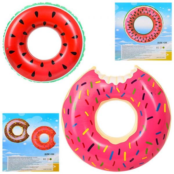 круг для плаванья Арбуз/Пончик D25548