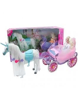 Кукла с каретой и лошадью Princess (38386)
