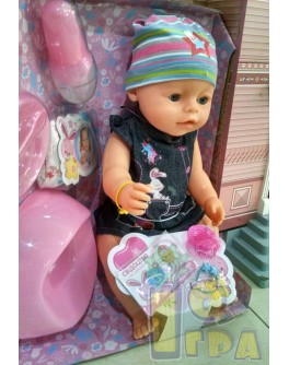 Кукла Baby Born в джинсовом платье (BL020P-S-UA)