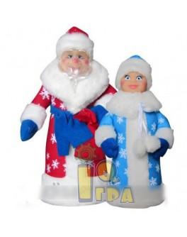 Дед Мороз и Снегурочка - мягкая игрушка, ЧудиСам - ALB В010/В011