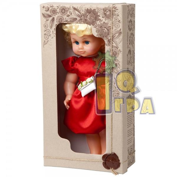 """фото Кукла """"МИЛАНА НАРЯДНАЯ"""" (40 см), красное платье - alb В202/К"""