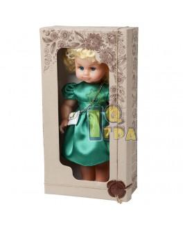 """Кукла """"МИЛАНА НАРЯДНАЯ"""" (40 см), зеленое платье - alb В202/3"""