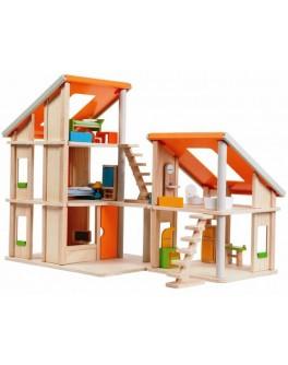 Деревянный кукольный домик Шале с мебелью Plan Toys (7141)