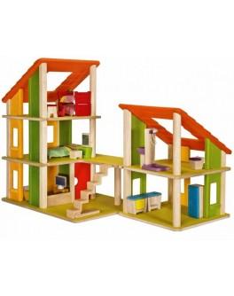 Деревянный кукольный домик Шале с мебелью Plan Toys (7602)