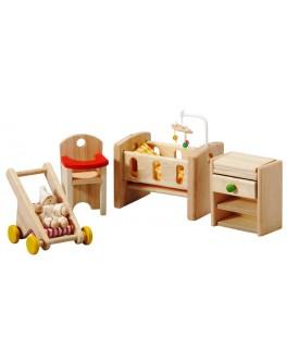 Набор мебели из дерева для кукол Детская комната Plan Toys (7329)