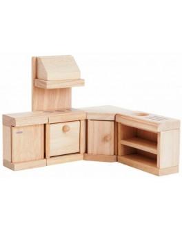 Набор мебели из дерева для кукол Кухня Plan Toys (9013)