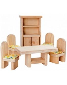 Набор мебели из дерева для кукол Столовая Plan Toys (9012)