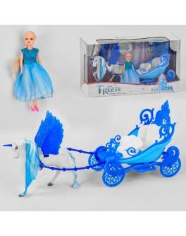 Ігровий набір Карета з лялькою Холодне серце, світло, звук, на батарейках (2231 B)