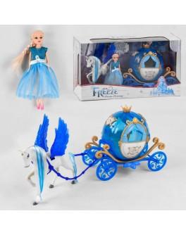 Ігровий набір Карета з лялькою Холодне серце, світло, звук, на батарейках (2232 B)