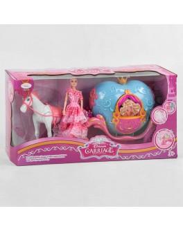 Ігровий набір Карета з лялькою і конячкою, світло, музика (811 A)