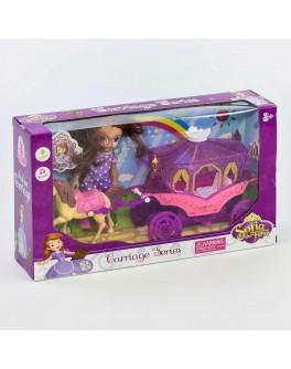 Ігровий набір Карета з лялькою Принцеса Софія, світло, звук (DN 843 SF-2)
