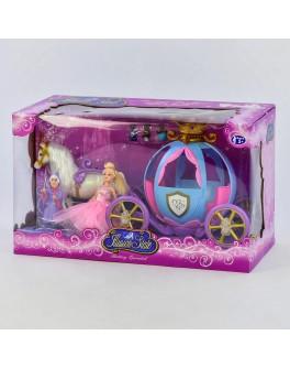 Ігровий набір Карета з лялькою, звукові і світлові ефекти (205 А)