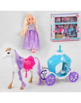 Ігровий набір Лялька з каретою, кінь, аксесуари (5505)