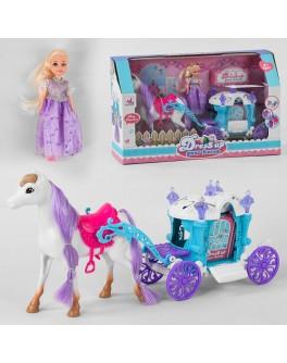 Ігровий набір Лялька з каретою і конем (5506)