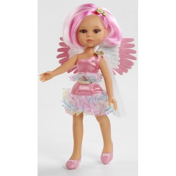 фото Кукла Ангел розовый с прической каре, 32 см (04697) Paola Reina - kklab 04697