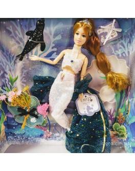Лялька шарнірна Emily блондинка Русалочка з аксесуарами 30 см (QJ 092)