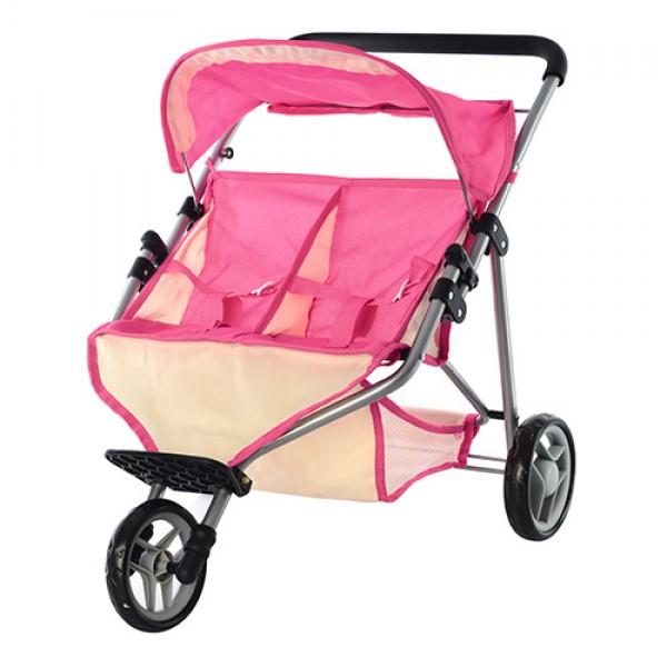 Двухместная прогулочная коляска для кукол Melogo (9667)