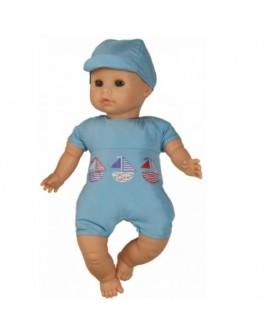 Кукла для купания в голубом с уточкой (37150) 32 см без коробки Paola Reina - kklab 37150