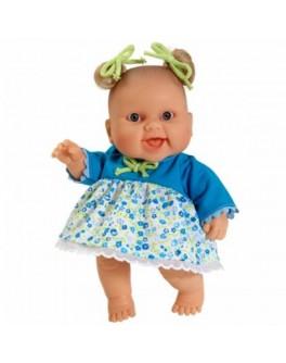 Кукла-пупс Младенец девочка Люсия в голубом платье без коробки Paola Reina (01123) 22 см  - kklab 01123